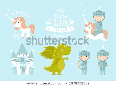 Cartoon sonriendo príncipe nino feliz corona Foto stock © cthoman