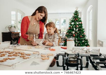 madre · hija · pan · de · jengibre · cookies · familia - foto stock © anna_om