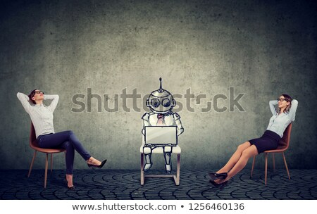 Işkadınları rahatlatıcı yapay zeka şirket Stok fotoğraf © ichiosea