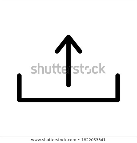 Stock photo: Folder Icon with download arrow in trendy flat style isolated on white background, for your web site
