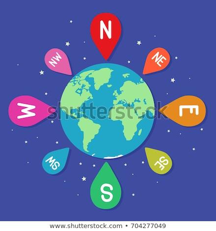 земле направлении иллюстрация первичный инструкция север Сток-фото © lenm