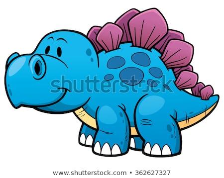 Cute Stegosaurus cartoon Stock photo © watcartoon