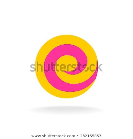blue spiral letter e icon logo sign Stock photo © blaskorizov