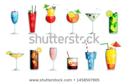 bebidas · menú · botellas · bebidas · vector · fiesta - foto stock © bluering