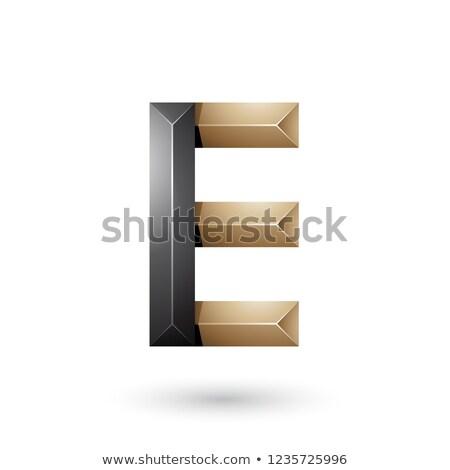 Czarny beżowy piramidy jak geometryczne Zdjęcia stock © cidepix