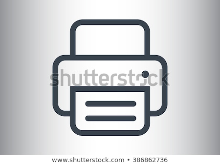 Phone and Fax Machine Icons Vector Illustration Stock photo © robuart