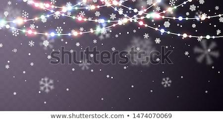 Рождества снега падение белый темно Сток-фото © olehsvetiukha
