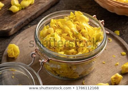préparation · sirop · fraîches · fleurs · jar · canne - photo stock © madeleine_steinbach