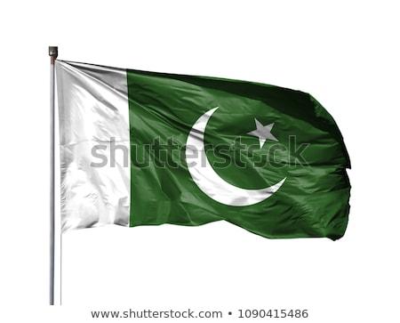 Pakisztáni zászló izolált fehér Pakisztán háromdimenziós Stock fotó © daboost