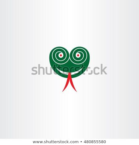 Ijesztő kígyó fej szemek vektor ikon Stock fotó © blaskorizov