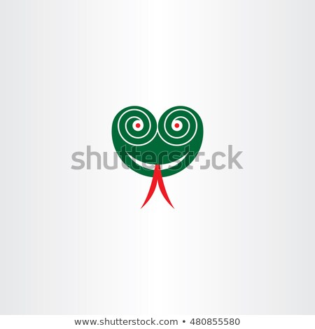 зеленый · змеи · Cartoon · улыбка · счастливым - Сток-фото © blaskorizov