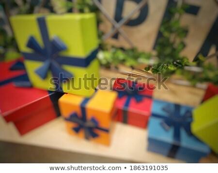 szalag · izolált · sablon · citromsárga · dekoratív · szalag - stock fotó © robuart