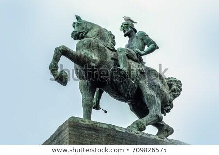 Equestrian monument to Hans Waldmann in Zurich Stock photo © boggy