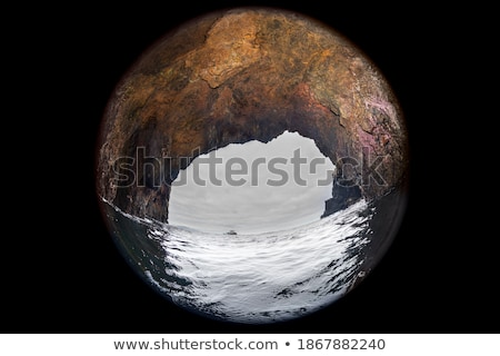 Cave over the water Stock photo © colematt