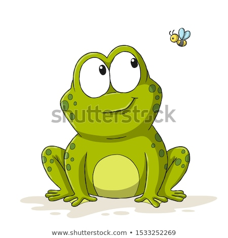 Doodle animal character for happy frog Stock photo © colematt