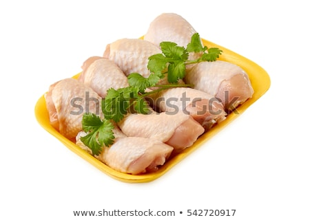 Chicken Legs in Plastic Tray for Retail Market Stock photo © robuart