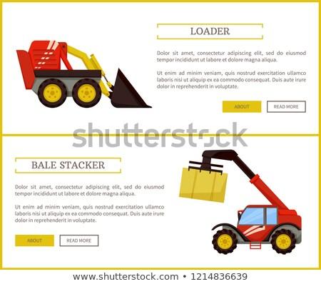 Stockfoto: Posters · ingesteld · tekst · monster · agrarisch · machines