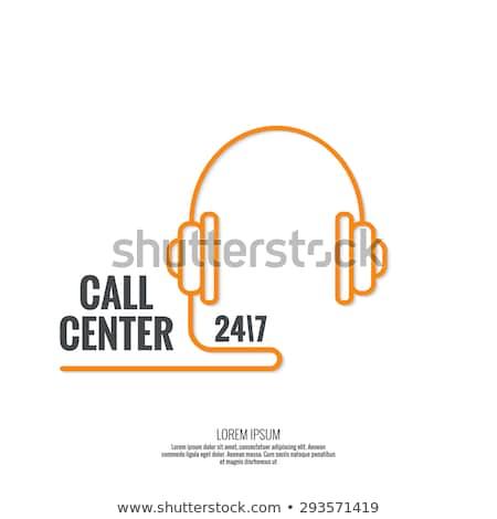 Helpline Operators of Center Receive Calls Vector Stock photo © robuart