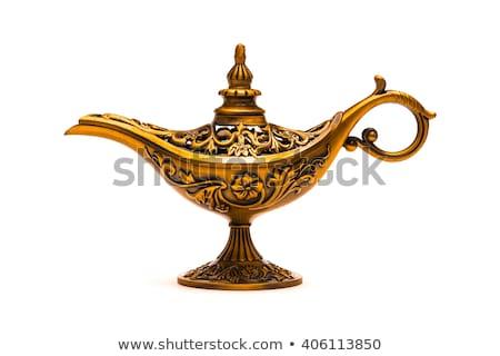 Antique Gold Aladdin Magic Lamp Stock photo © Krisdog