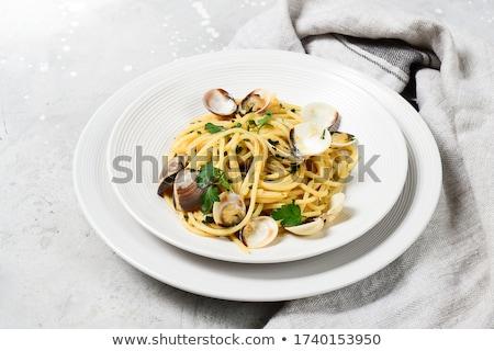 Spagetti hagyományos olasz tengeri hal tészta étel Stock fotó © homydesign