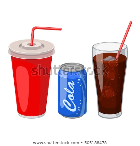 Soft Drink in Plastic Cup Set Vector Illustration Stock photo © robuart