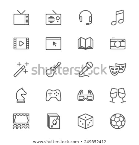 cinema microphone icon stock photo © angelp