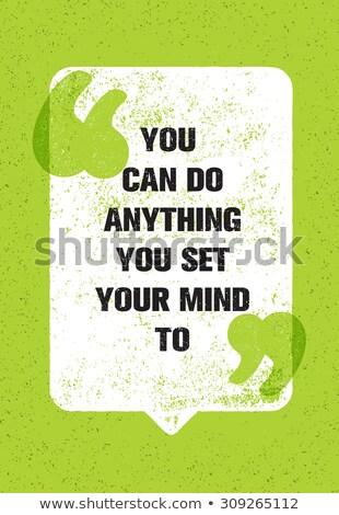 Lata balão de fala mão desenho motivacional preto Foto stock © ivelin