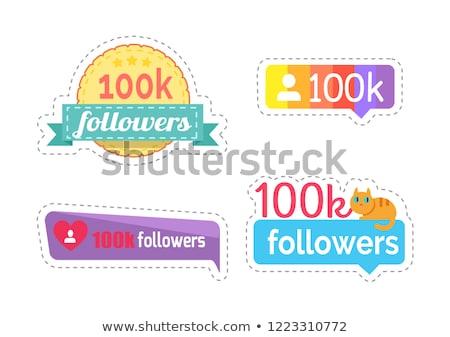 Engem mennyiség matricák vektor szám szett Stock fotó © robuart