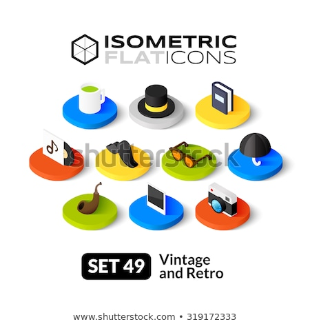 Pipes color isometric icons Stock photo © netkov1