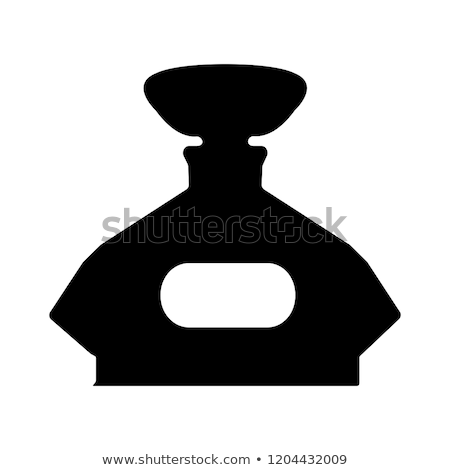 set with vintage cosmetic and perfume bottles silhouette Stock photo © Margolana
