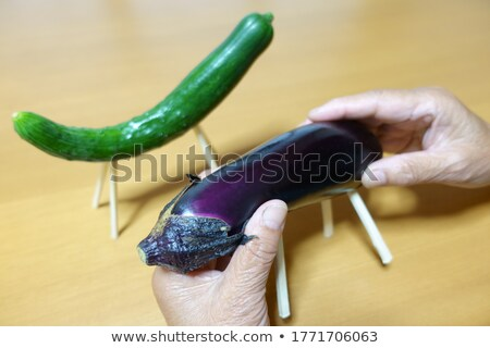Stock photo: Eggplant of Japanese Bon Festival with a ghost