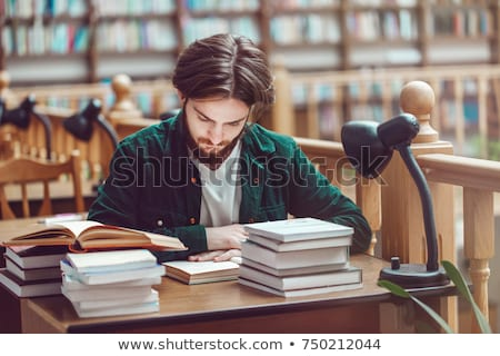 Stock photo: Young student before exams