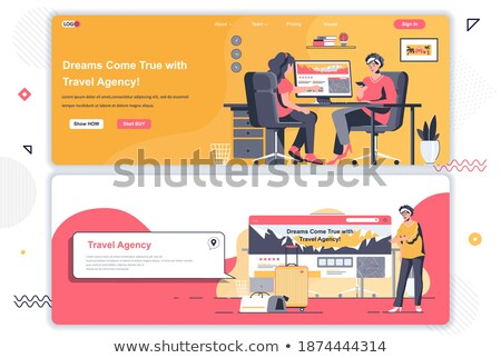 Web site design template on the theme of travel, vacation, adventure. Landing page concepts for webs Stock photo © ikopylov