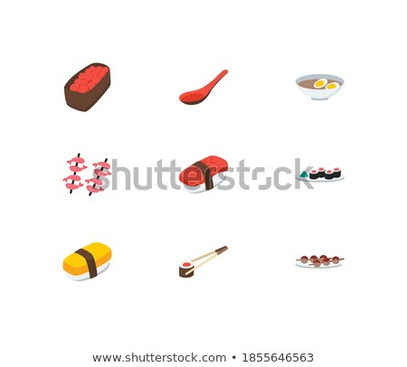 Vector set, Gunkan Sushi Stock photo © netkov1