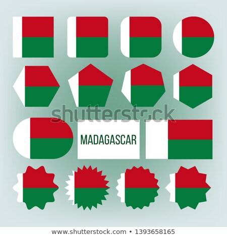 Madagaskar bayrak toplama anlamaya vektör Stok fotoğraf © pikepicture