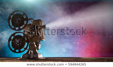 wall picture of old video camera with film reels stock photo © robuart