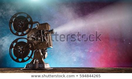 Parede quadro velho filmadora filme cinema Foto stock © robuart