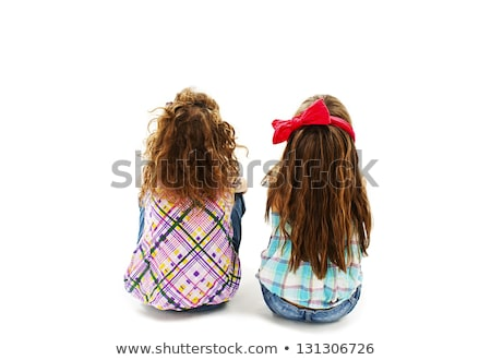 Cute toddler girl looking away isolated on white  Stock photo © dashapetrenko