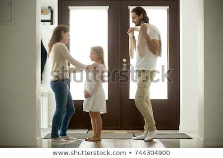 Mothers bringing the kids to school in the morning Stock photo © Kzenon