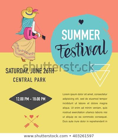 Boheems zomer muziek evenement festival poster Stockfoto © marish