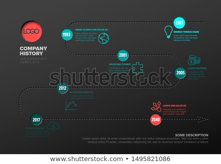 Simple timeline with some facts and icons Stock photo © orson