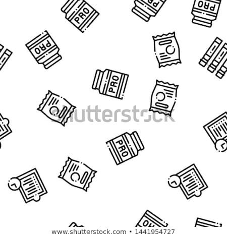 Sport voeding vector lineair pictogrammen Stockfoto © pikepicture