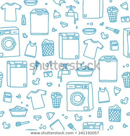 laundry service vector seamless pattern stock photo © pikepicture