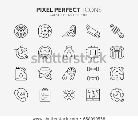conditioner repair vector thin line icons set stock photo © pikepicture