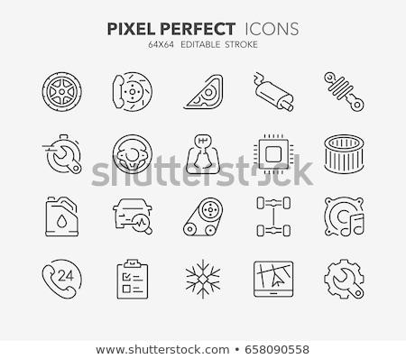 Conditioner reparatie vector dun lijn Stockfoto © pikepicture