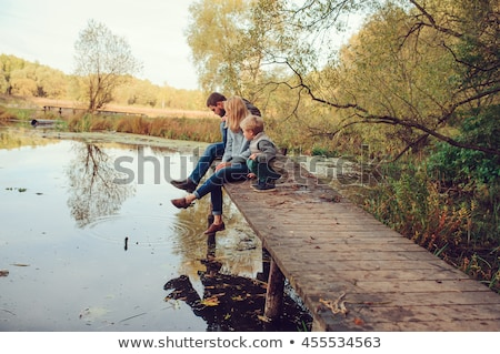 Happy Mother and Kids Spend Time Together Forest Stock photo © robuart