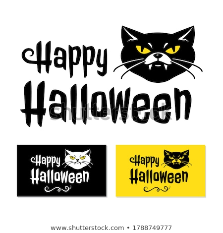 Halloween · Symbole · farbenreich · scary · Silhouette · schwarz - stock foto © frimufilms