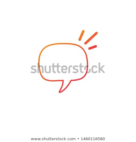 Linear Hand drawn Speech Bubbles, Rectangle Distorted Circles and Square Blank Trendy Shapes. Vector Stock photo © kyryloff