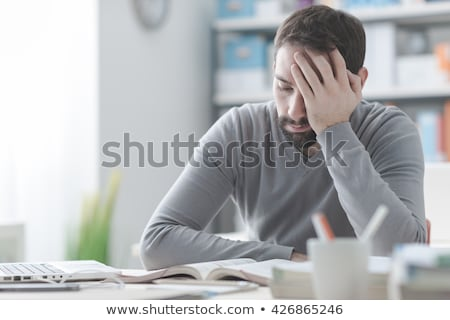 Man with a headache or concentrating Stock photo © Giulio_Fornasar