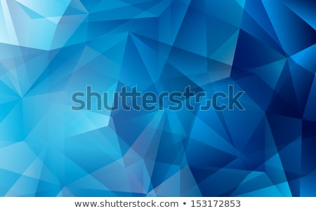 abstract blue geometric triangle shape business card stock photo © sarts